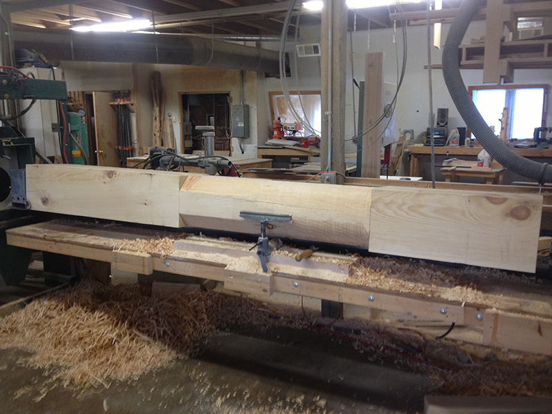 Custom Large Log Sawing by Creative Log Structure